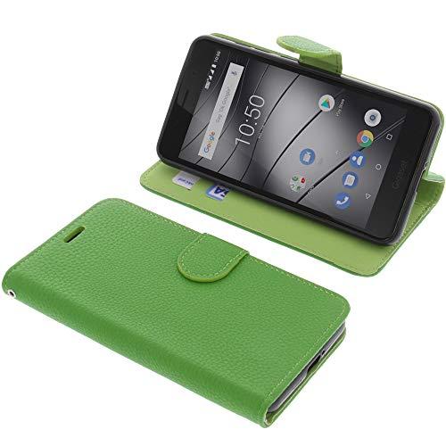 foto-kontor Tasche für Gigaset GS180 Book Style grün Schutz Hülle Buch