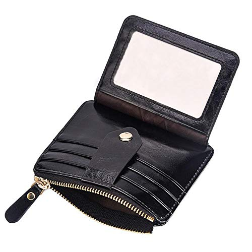 Regen blokkeren korte lederen portemonnee kaarthouder portemonnee portemonnee portemonnee met munt zak mannen portemonnees Hasp en koppeling