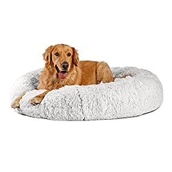 """top 10 round shaped beds Sheri's best friend. Hairy fur donuts, an original soothing bed for oversized 45 """"x45"""" cats and dogs …"""