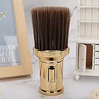 取り外し可能なヘアクリーニングシェービングブラシひげシェービングヘアカット(Golden)