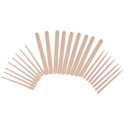FRCOLOR Spatules de Cire en Bois Bâtons de Cire pour Sourcils Applicateur de Fartage en Bois pour Épilation 600Pcs (Style Mixte)