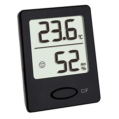 TFA Dostmann Digitales Thermo-Hygrometer, Hygrometer digital für innen, zur Feuchtigkeits Messung, mit Komfortzonen