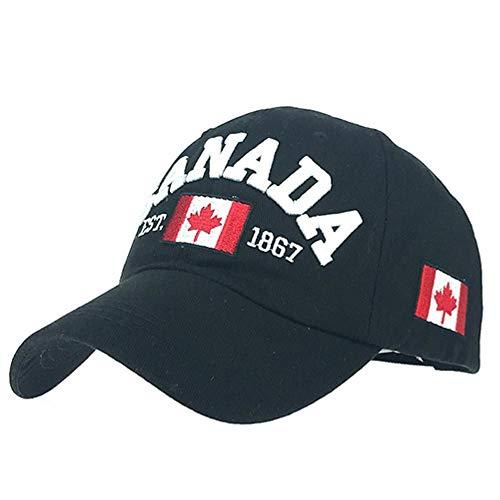 JKJKL Baseball Cap Taktische Baseball Cap Männer Baumwolle Kanada Ahorn Flagge Stickerei Hysteresen Adjuatbale Uv-Proof Sonnenhut Mode Casual Hats