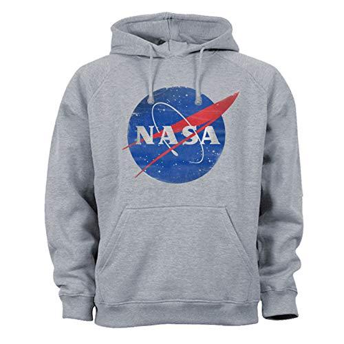Tex-Ha NASA Aeronautik Space Shuttle Armstrong Sudadera con Capucha Gris M