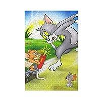 トムとジェリー 1000ピース 木製 ジグソーパズル アニメ キャラクター パズル 減圧 レジャー 人気 おしゃれ 子供 初心者向け プレゼント(75 X 50cm)