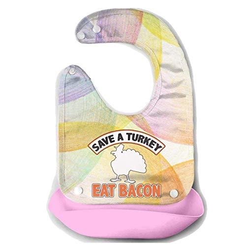 Pavo comer Bacon cerdo divertido día de Acción de Gracias