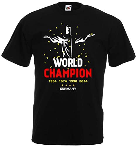 Deutschland World Champion Herren T-Shirt Christus Rio Trikot|schw-XXXL