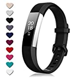 TreasureMax for Fitbit Alta Bands and Fitbit Alta HR Bands,, Black, Size 5.5