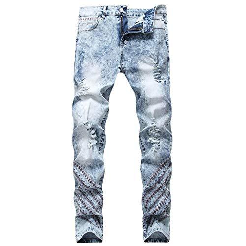 Screenes Herren Jeans Hose 2020 Herrenmode Schlanke Löcher Gefaltete Tasche Jeans Einfacher Stil Hosen Länge Hosen Freizeithosen Vintage Jeans Für Herren Blaumann Jeans