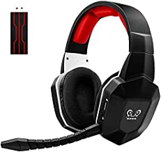 HUHD 2.4GHz Wireless Gaming Headset Compatible with PS5, PS4, PC, Nintendo Switch, Over Ear Gaming Headphones with Removable Mic, Ultra-Low Latency, Virtual 7.1 Surround Sound, Soft Earmuffs