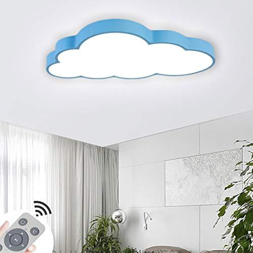 CASNIK Luces de techo Nubes Regulable Lámpara de techo ultradelgada LED ultradelgada Lámpara de la sala de estar del dormitorio de la cocina (azul-64W Regulable)