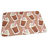 swerrtty Coffee Icecream Diaper Changing Pad Breathable Flannel Changing Mats and Reusable