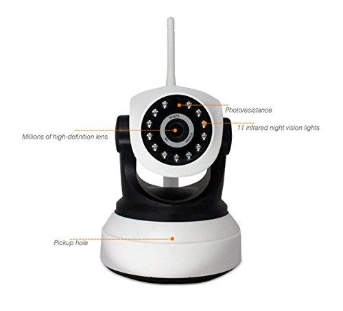 WiFi Netzwerk Kamera, 720P HD Baby Monitor IP mit Audio & Nightvision, Gegensprech funktion, Remote...