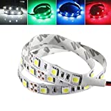 Que cambia de color Barra de luz LED 50CM No-Impermeable del LED Luz de tira flexible PC caja de la computadora Adhesivo lámpara SMD 5050, decoración (Color : White)