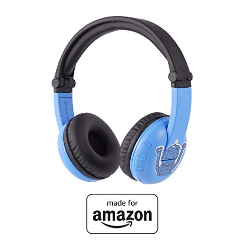 BuddyPhones PlayTime, nuevos auriculares con Bluetooth Made for Amazon, azul, para edades de 3 a 7 años