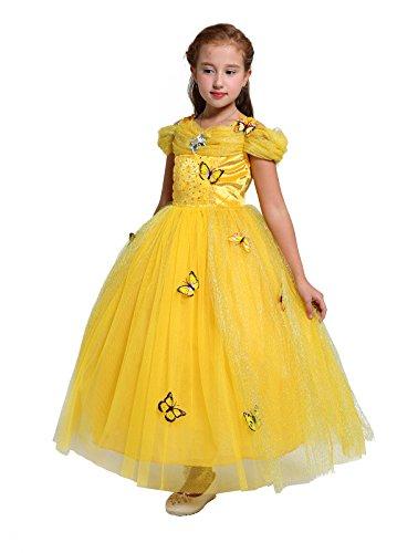 Lito Angels Die Schöne Märchenkleid Prinzessin Königin Kleid Kostüm Für Baby Mädchen Gelb 7-8 Jahre
