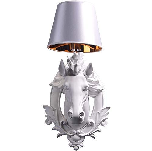 Dierenkop paardenhoofd wandlamp bedlampje, Nordic Europese woonkamer slaapkamer werkkamer wanddecoratie wandlamp, creatieve eenvoudige paardenkop wandlamp