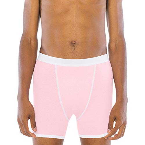American Apparel Herren Baby Rib Boxer Brief Slip, Rose, Large