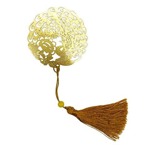 segnalibro, segnalibro in metallo, pavone, regali giapponesi, taglio carta, arte tagliata, libreria, regalo amante del libro, oro,