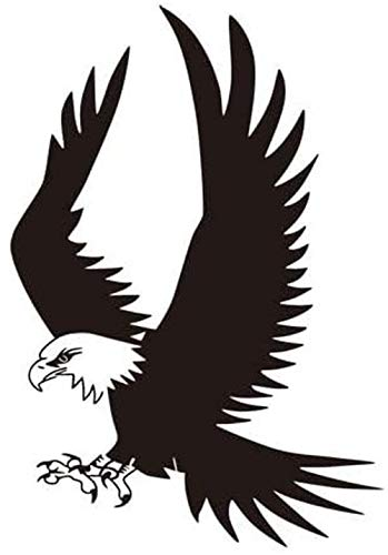 CHENWN Pared de Vinilo Pegatinas, águila del Vuelo, decoración de la Pared de Tienda de Ropa del salón de Belleza Dormitorio Sala de decoración Mural 56X82CM