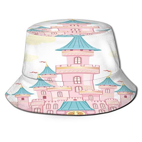 PUIO Sombrero de Pesca,Castillo de Cuento de Hadas,Senderismo para Hombres y Mujeres al Aire Libre Sombrero de Cubo Sombrero para el Sol