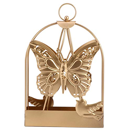 HEMOTON Mosquito Coil Holder Metal Mosquito Burner Stand Hanger Tabletop Decoration Garden Hanging Ornament Butterfly