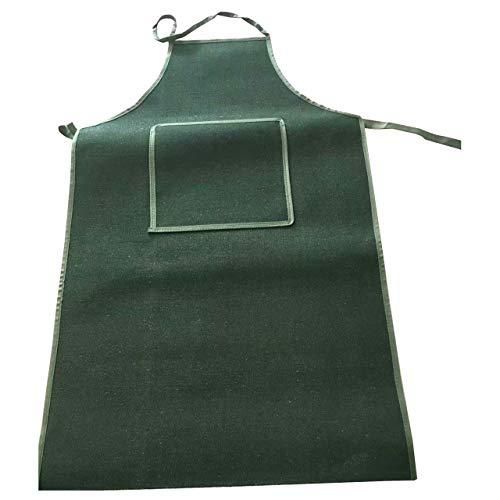 Yuema Schürze aus geschweißtem Segeltuch, antifouling anti-Fett, hitzebeständiger, feuerfester Anzug, Sicherheitsbeständig aus schwerem Segeltuch