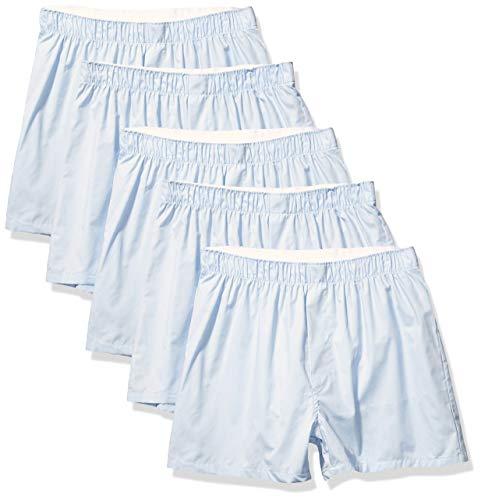 Amazon Essentials Men's 5-Pack Boxer Short, Blue, Medium