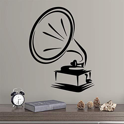 Geiqianjiumai interessante trompet afneembare muursticker slaapkamer wanddecoratie wand woonkamer decoratie