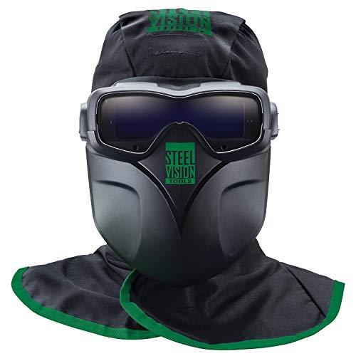 Steel Vision 32000 Auto Darkening Welding Helmet Mask Kit - Welding Goggles, Mask, Hood & Bump Cap