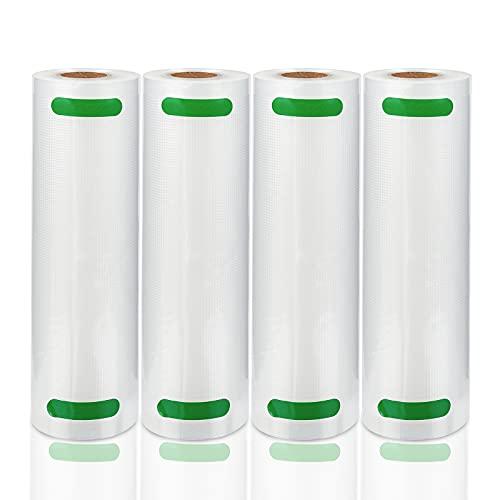 Hengda Rollos de papel de aluminio profesional de 20 x 600 cm / 4 rollos + 10 bolsas herméticas al vacío, para envasadora al vacío y envasadora al vacío, sin BPA, aptos para alimentos