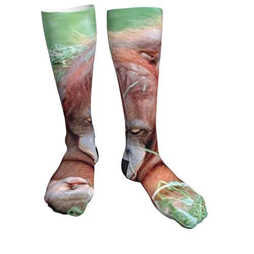 Orangutan - Calcetines deportivos para madre y niño para hombres y mujeres, calcetines gruesos para correr, vuelo, viajes, montañismo