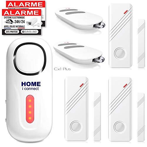 professionnel comparateur Alertes domicile – Alertes domicile sans fil – Alertes portes et fenêtres – 3 détecteurs – 2… choix