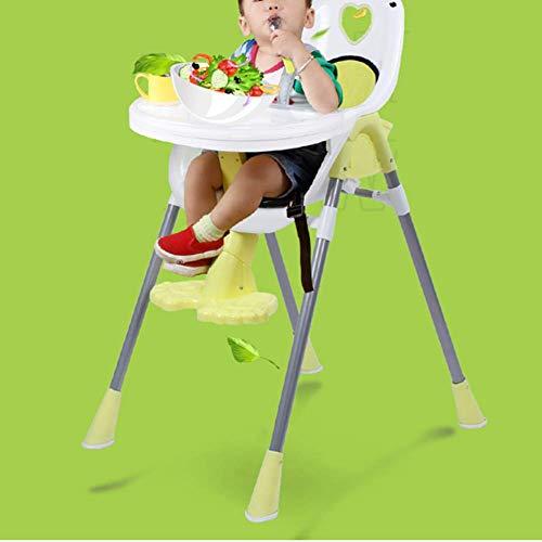 WJYY Mode Creative Petits meubles Anti-Slip Tabouret bébé Chaise haute de table chaises Table multi-fonction pour Children.and réglable multifonctions Creative ménages,Jaune,Grand
