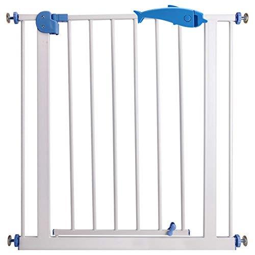 Barrera de Seguridad Ajuste de Presión Metal Puerta de Seguridad Retráctil, for El Baño de La Cocina de La Escalera del Perro Mascota (Color : White, Size : W 150-157CM)
