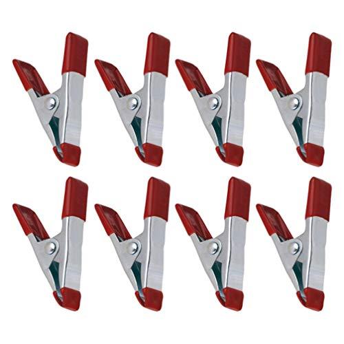 DOITOOL 8Pcs Metallfederklemmen Kohlenstoffstahl Schwere 6 Zoll Backenöffnungshintergrundklemmen für Zeltbildfotografieclips Büro im Freien Camping Verwendet (Rot)