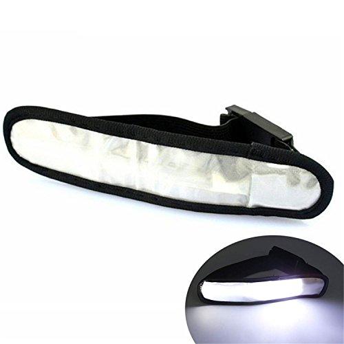 LED Glow Slap Bracelet, Light Up Polsband LED Sport Armband Safety Light for hardlopen, fietsen of lopen 's nachts WELSUN (Color : White)