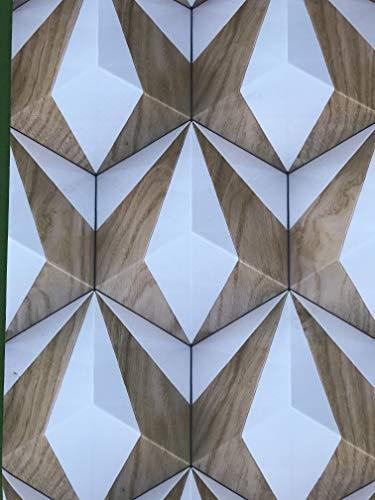Tappeto Cucina su Misura (a metraggio) Largo 50 cm. Antiscivolo Lavabile Color Legno tidimensionale Moderno 3D