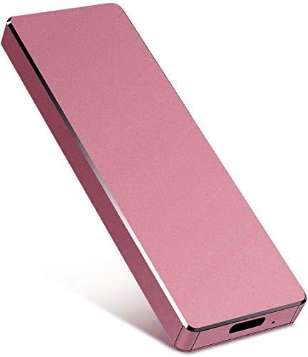 Hard disk esterno Tipo C USB 3.1 portatile 1TB 2 TB Hard Disk esterno compatibile per Mac laptop e PC (2 TB, oro rosa)