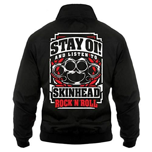 Spaß kostet Männer und Herren Gefütterte Harrington OI Skinhead Rockn Roll (mit Rückendruck) Größe S - 5XL