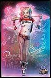 1art1 Suicide Squad Poster und Kunststoff-Rahmen - Harley