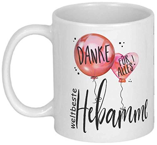 My Sweetheart® Dankeschön für Hebamme Geschenk Tasse mit Namen Geschenkideen für Hebammen