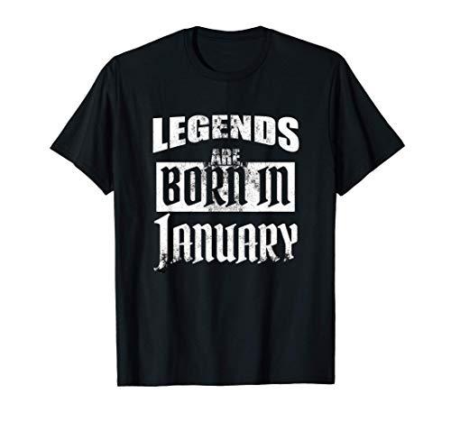 Las leyendas nacen en enero Regalo de cumpleaños Camiseta