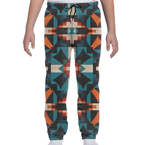 CLERO& Youth - Pantalones de chándal con estampado 3D, color verde azulado y naranja Negro blanco 27-32