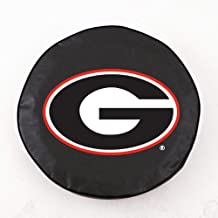 HBS Georgia Tire Cover with Bulldogs Script 'G' Logo on Black Vinyl