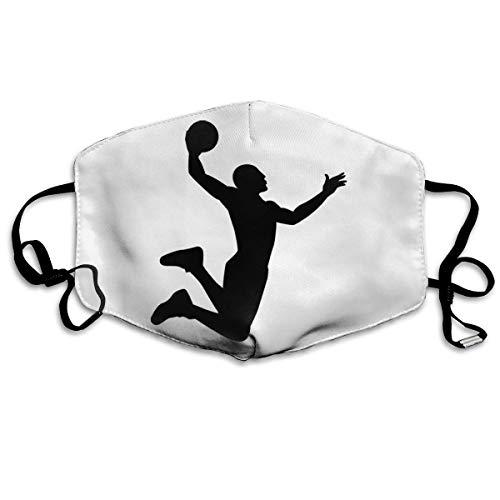 Basketball Muster Wiederverwendbare waschbare Gesichtsschutzhülle für den persönlichen Schutz