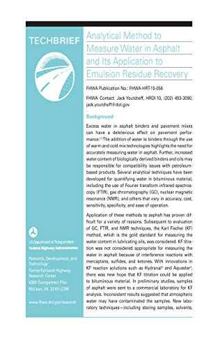 Analytical Method to Measure Water in Asphalt and Its Application to Emulsion Residue Recovery