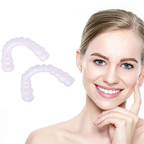 1 Pairs Dentures Veneers Tooth,Cosmetic Teeth, Instant Veneers Dental Silicone Tooth Whitening Temporary Prosthesis…