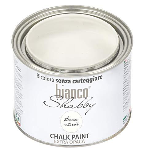 CHALK PAINT Bianco Naturale Pittura Shabby Chic Vintage per Mobili e Pareti EXTRA OPACO...