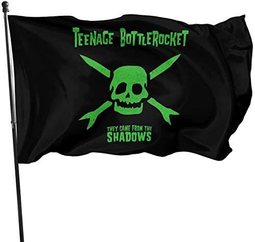 RJin92 Dekorative Flagge Teenage Bottlerocket Lustige dauerhafte und farbenfrohe Gartenflagge im Freien